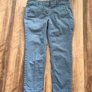 LOFT Blue Cropped Skinny Pants - Marisa 4P